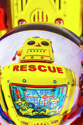 Photograph - Rescue Yellow Bot by Garry Gay