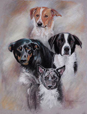 Pastel - Rescued Friends by Patricia Baehr-Ross