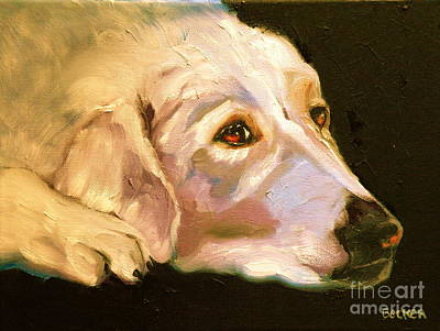 Rescued Golden Art Print by Susan A Becker