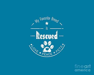 Digital Art - Rescued Love Peace Pets Light by Tim Wemple