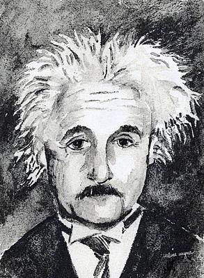 Einstein Mixed Media - Resemblance To Einstein by Arline Wagner