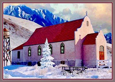Painting - Reservation Church by Ron and Ronda Chambers