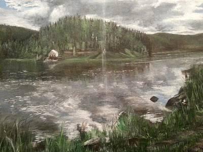 Jenna Thomas Wall Art - Painting - Reservation Lake by Jennifer Thomas