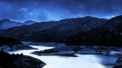Photograph - Reservoir At Blue Hour by Joseph Hollingsworth