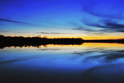 Indiana Photograph - Reservoir At Sunset by Ken Cave