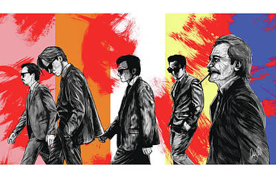 Grindhouse Drawing - Reservoir Dogs by Anthony Gonzales-Clark