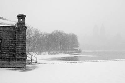 Photograph - Reservoir Snow Central Park by Dave Beckerman