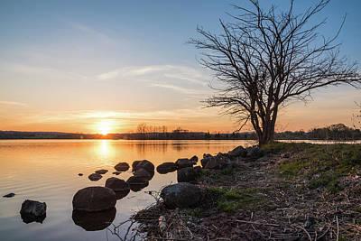 Reservoir Sunset Art Print