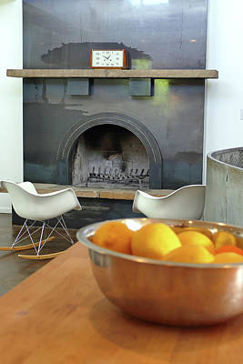 Photograph - Residence 1 Fireplace by Jeff Brunton