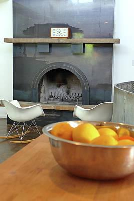 Photograph - Residence 1 Fireplace by Jeff Brunton
