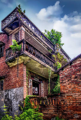 Photograph - Residence In Old Shilong by Endre Balogh