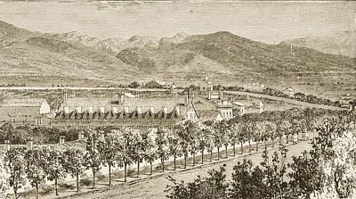 Residence Of Brigham Young Salt Lake Art Print