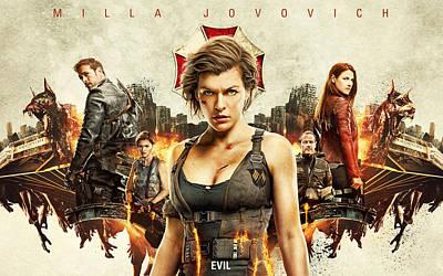 Resident Evil Digital Art - Resident Evil The Final Chapter 2017 by F S