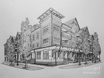 No Place Like Home Drawing - Residential Rendering 2035 by Robert Yaeger