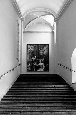 Photograph - Residenz Galerie Staircase by Robert Meyers-Lussier