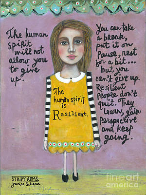 Resilience Painting - Resilient by Janice Scherer