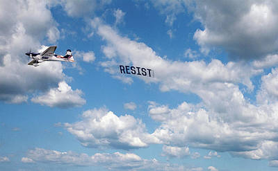 Photograph - Resist Airplane by Susan Maxwell Schmidt