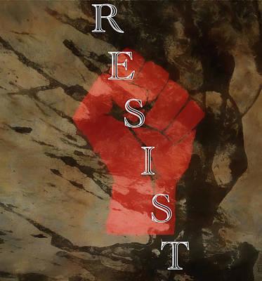 Mixed Media - Resist by Dan Sproul