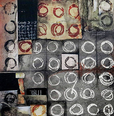 Squares Mixed Media - 	Resist Patterned Language				 by Laura Lein-Svencner