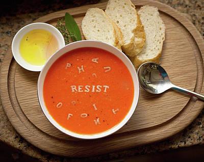 Resistance Alphabet Soup Art Print by Susan Maxwell Schmidt
