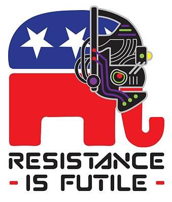 Digital Art - Resistance Is Futile by Steve Lockwood