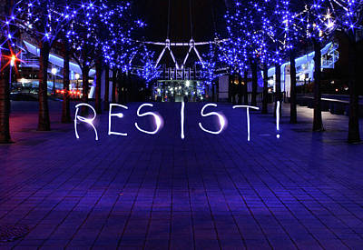 Photograph - Resistance Light Painting by Susan Maxwell Schmidt