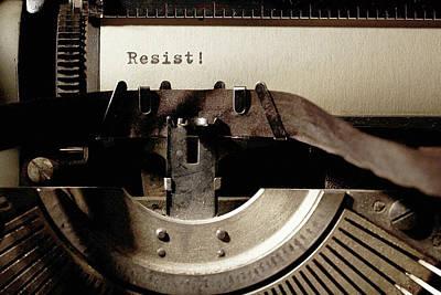 Resistance Typewriter Art Print by Susan Maxwell Schmidt
