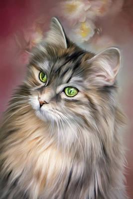 Character Portraits Painting - Resolutions - Cat Art by Jordan Blackstone