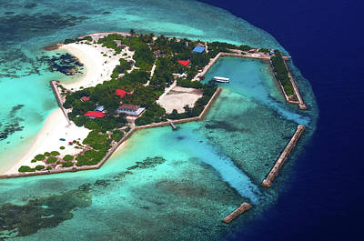 Photograph - Resort In The Ocean 1. Aerial Journey Around Maldives by Jenny Rainbow