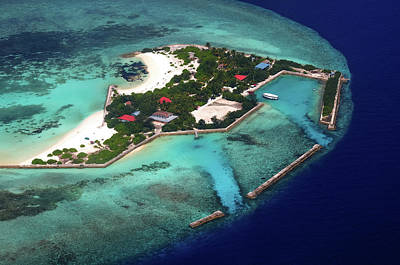 Photograph - Resort In The Ocean 2. Aerial Journey Around Maldives by Jenny Rainbow