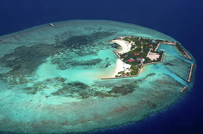 Photograph - Resort In The Ocean. Aerial Journey Around Maldives by Jenny Rainbow