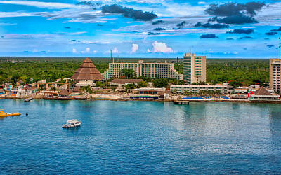 Photograph - Resorts On Cozumel by John M Bailey