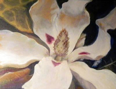 Painting - Resplendent Ashe Magnolia by Elaine Hines