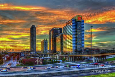 Photograph - Resplendent Glass Atlantic Station Sunset Reflections Art by Reid Callaway