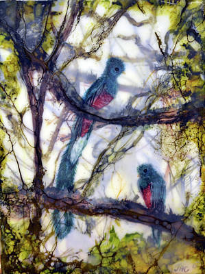 Painting - Resplendent Quetzal #1 by Jennifer Creech