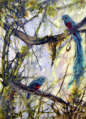 Painting - Resplendent Quetzal #2 by Jennifer Creech