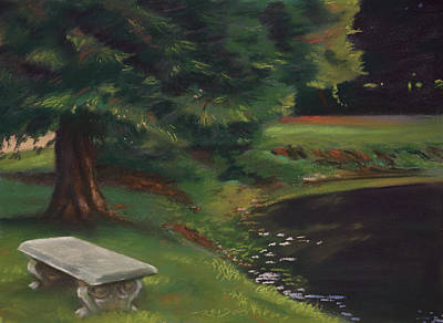 Pond Painting - Rest Area by Christopher Reid