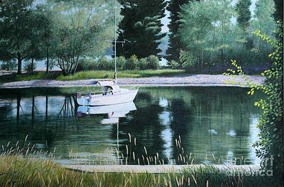 Painting - Rest At Pinhey's Point by Al Hunter