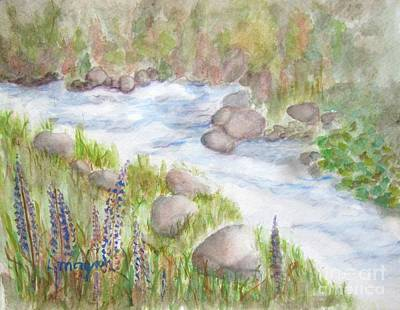 Painting - Rest By My Waters by Laurie Morgan