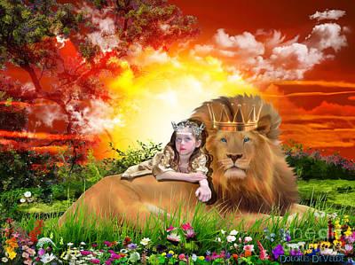Lion Of Judah Digital Art - Rest by Dolores Develde