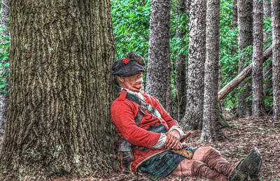 Historical Digital Art - Rest From The March Royal Highlander by Randy Steele