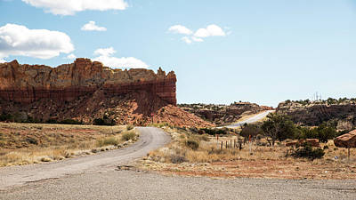 Photograph - Rest Stop And Red Rock by Tom Cochran