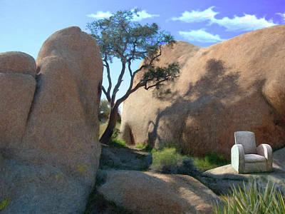 Whimsical Digital Art - Rest Stop by Snake Jagger