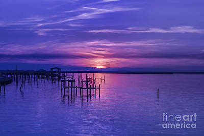 Photograph - Rest Well World Purple Sunset by Roberta Byram