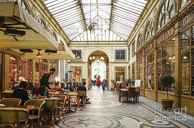 Photograph - Restaurant At Covered Passage Galerie Vivienne, Paris by Perry Van Munster
