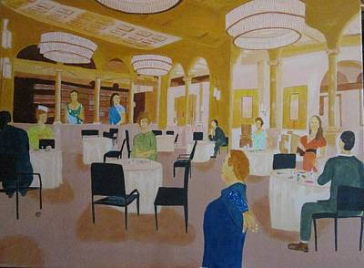 Rumba Painting - Restaurant by David Yoffe