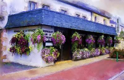 Restaurant De La Terrasse Art Print by Michael Greenaway