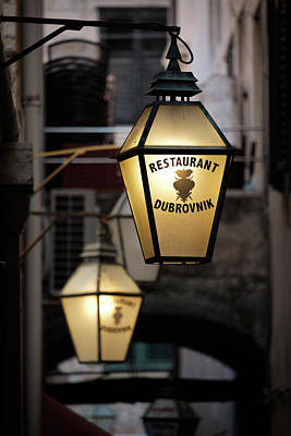 Photograph - Restaurant Dubrovnik by Dave Bowman