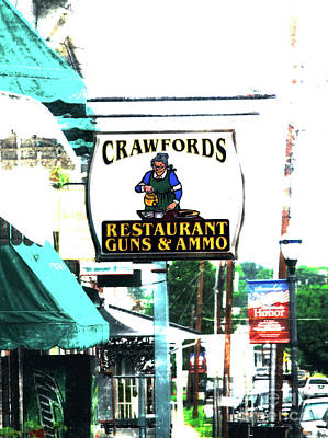 Restaurant Guns And  Ammo  Art Print by Steven Digman