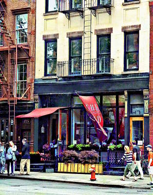 Fireescape Photograph - Restaurant In Chelsea by Susan Savad